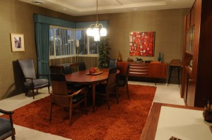 Mad Men Dining Room Grass Cloth