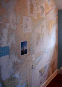 Maine Nautical Map Mural 2013