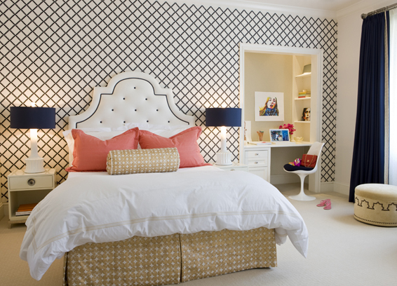 Accent walls transform your rooms one wall at a time patrick shields - Wallpaper for girl teenage room ...